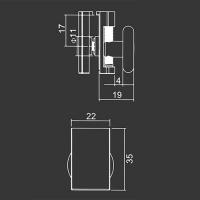 Spodné koliesko M13 pre sprchovací kút