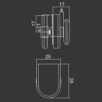 Horné koliesko M08 pre sprchovací kút