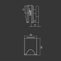 Spodné koliesko M16 pre sprchovací kút
