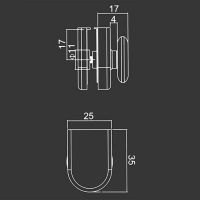 Spodné koliesko M08 pre sprchovací kút
