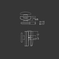 Spodné koliesko M01 pre sprchovací kút