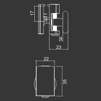 Spodné koliesko M11 pre sprchovací kút